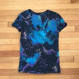 BDG Tops - Vibrant galaxy T-shirt